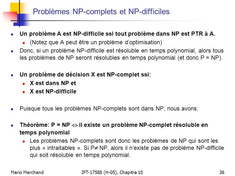 Problèmes NP-complets et NP-difficiles
