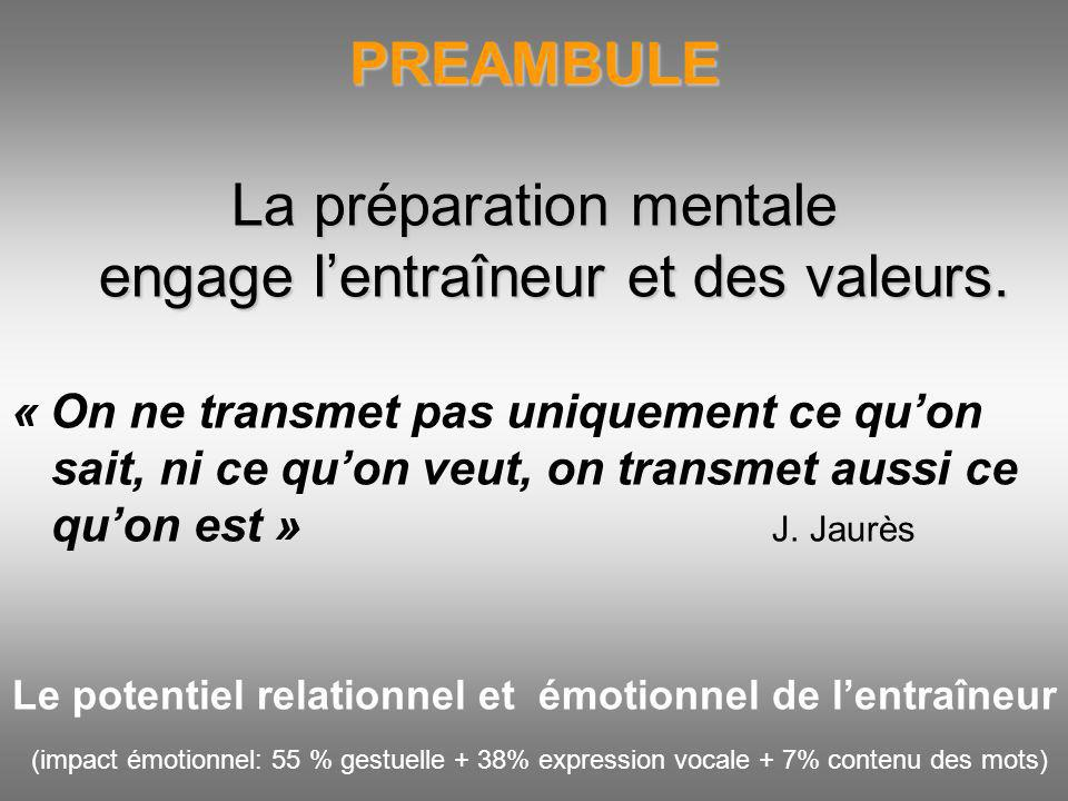 Le potentiel relationnel et émotionnel de l'entraîneur