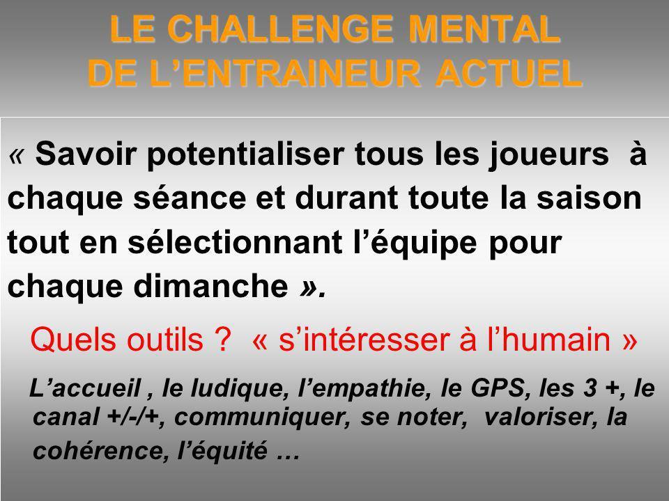 LE CHALLENGE MENTAL DE L'ENTRAINEUR ACTUEL