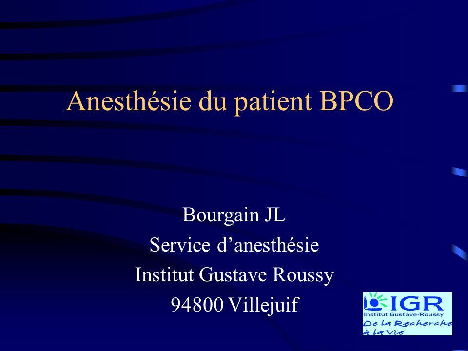 Anesthésie du patient BPCO