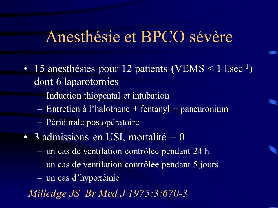 Anesthésie et BPCO sévère