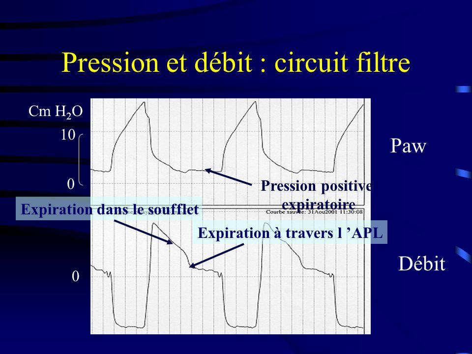Pression et débit : circuit filtre