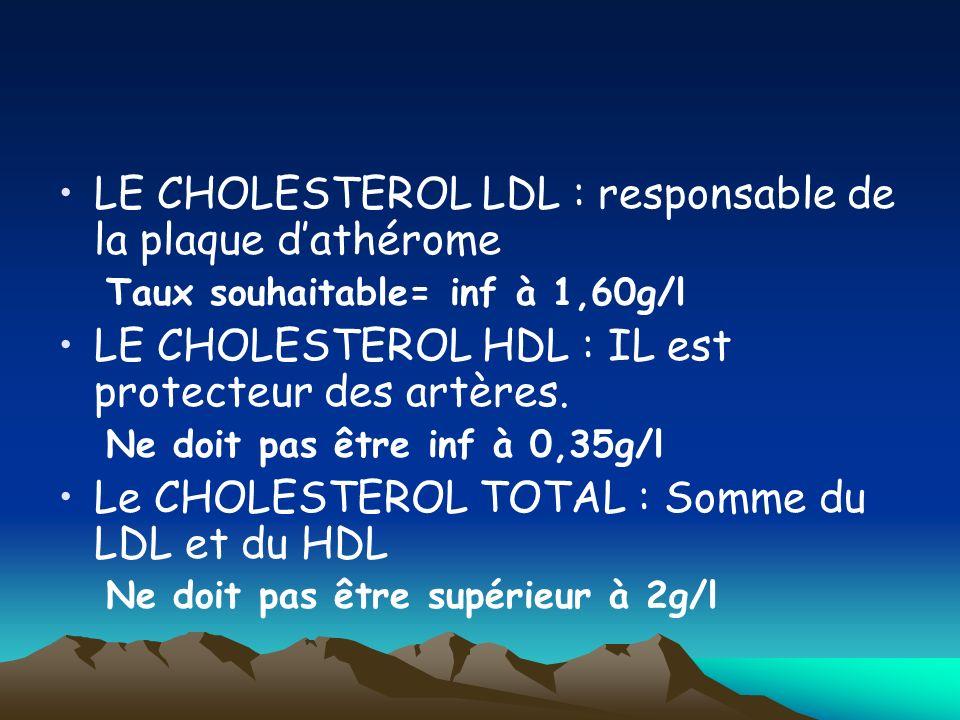 LE CHOLESTEROL LDL : responsable de la plaque d'athérome