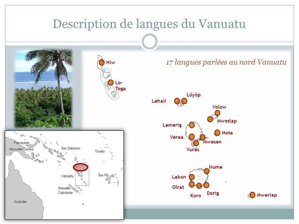 Description de langues du Vanuatu