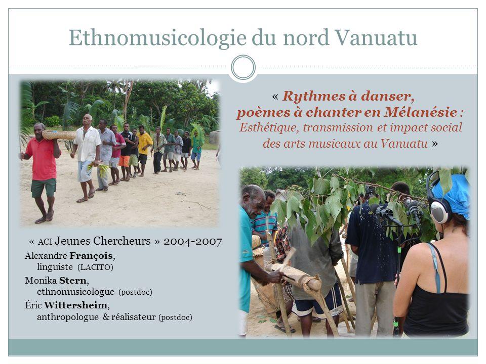 Ethnomusicologie du nord Vanuatu