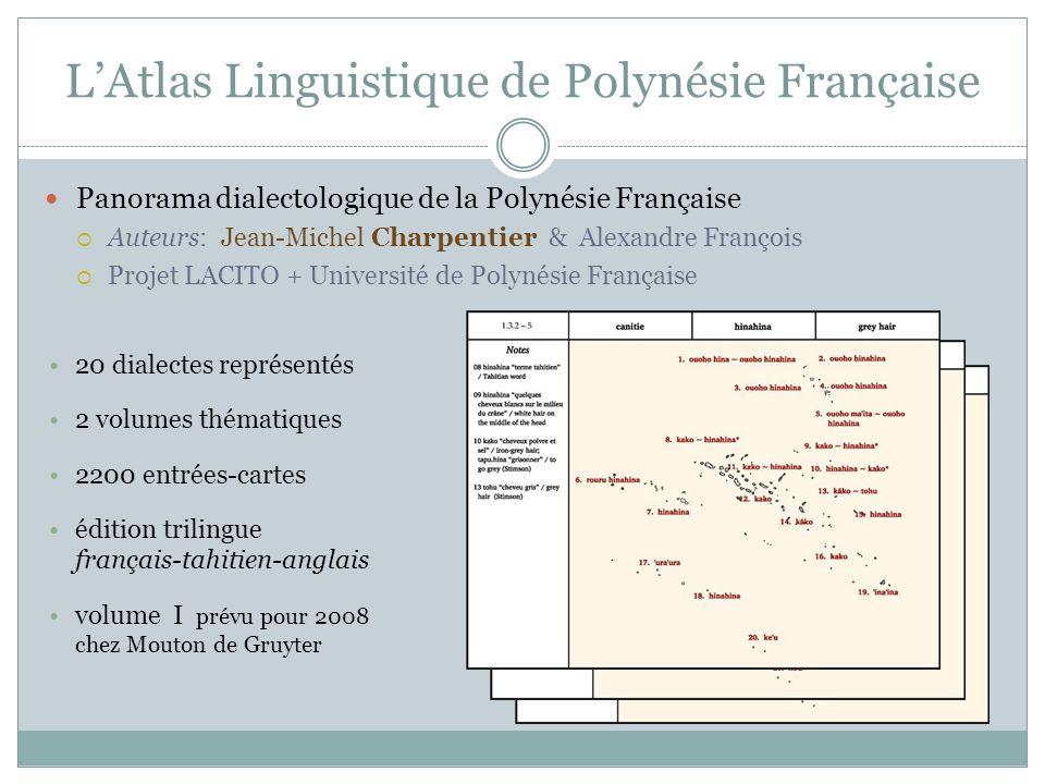 L'Atlas Linguistique de Polynésie Française
