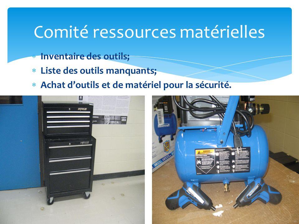 Comité ressources matérielles
