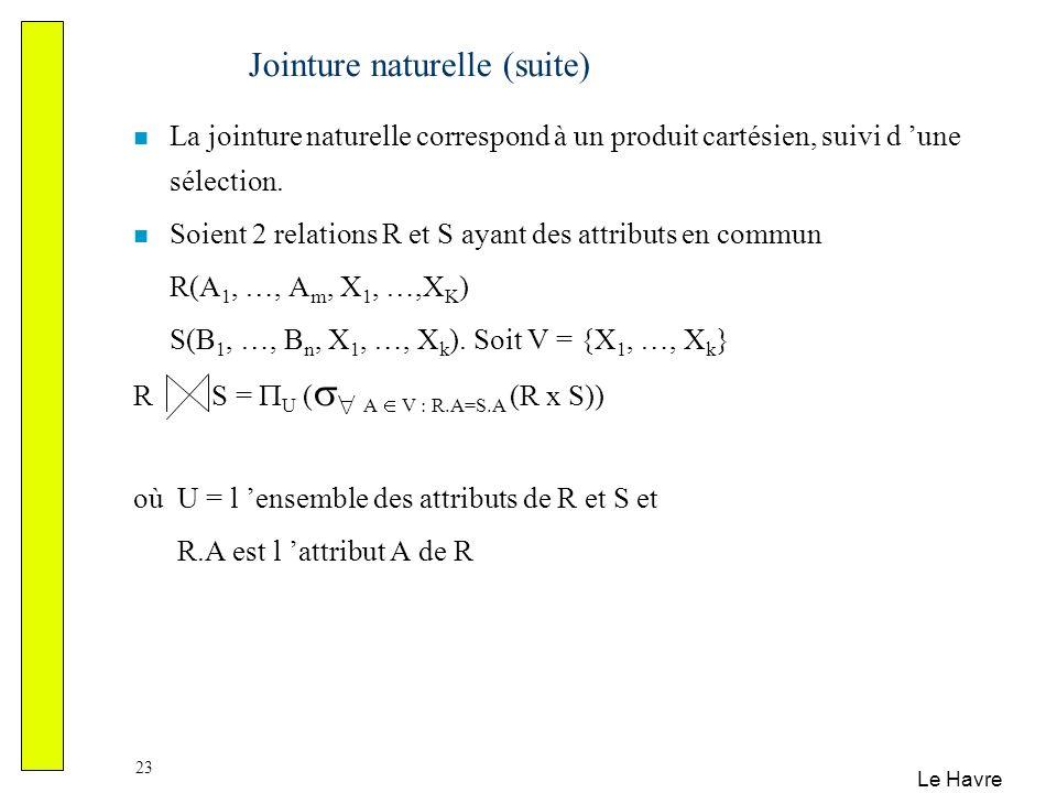 Jointure naturelle (suite)