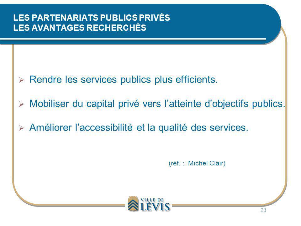 LES PARTENARIATS PUBLICS PRIVÉS LES AVANTAGES RECHERCHÉS