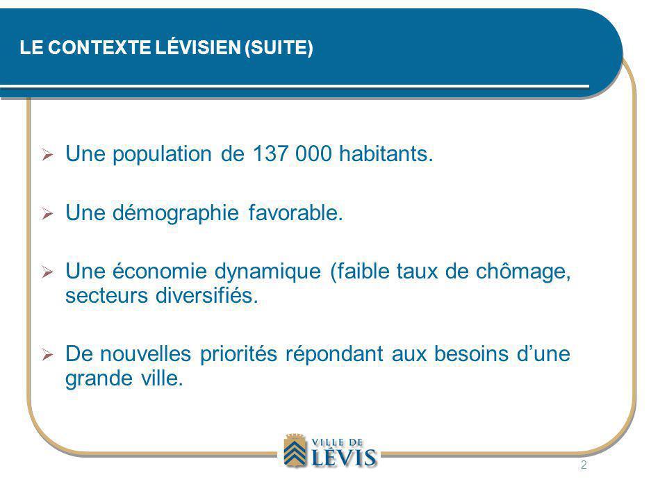 LE CONTEXTE LÉVISIEN (SUITE)
