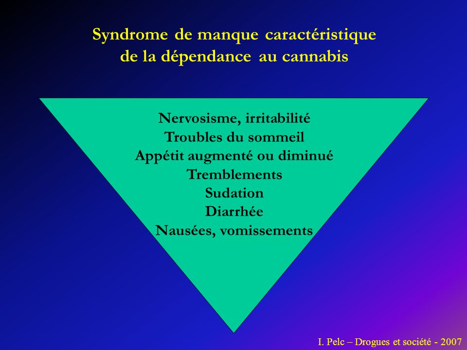 Syndrome de manque caractéristique