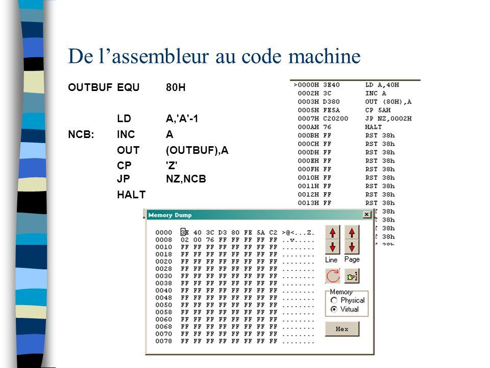 De l'assembleur au code machine
