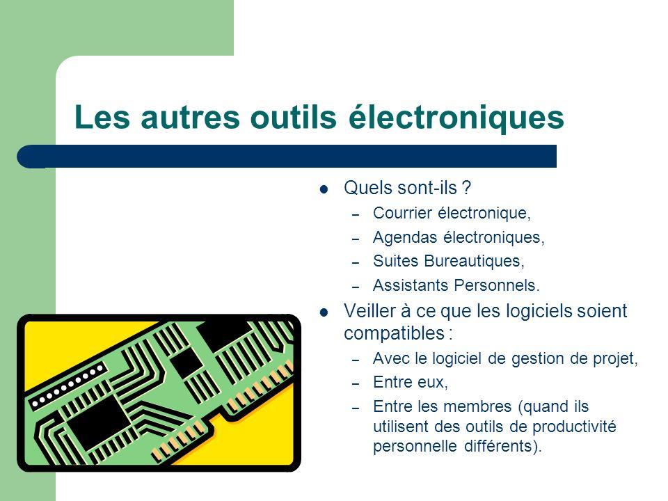 Les autres outils électroniques