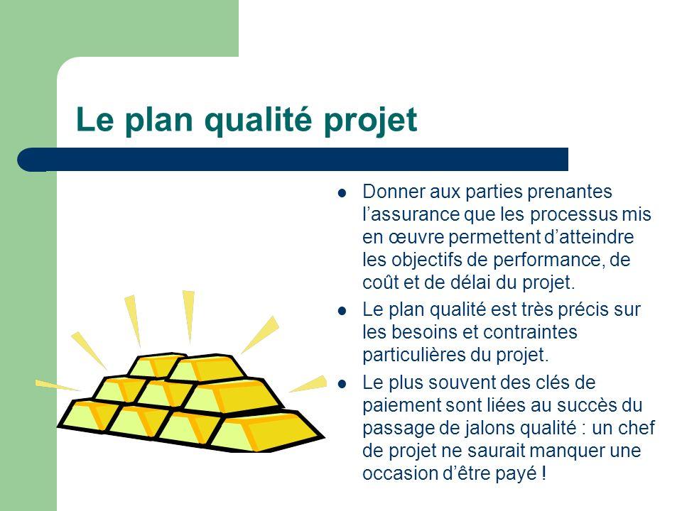 Le plan qualité projet