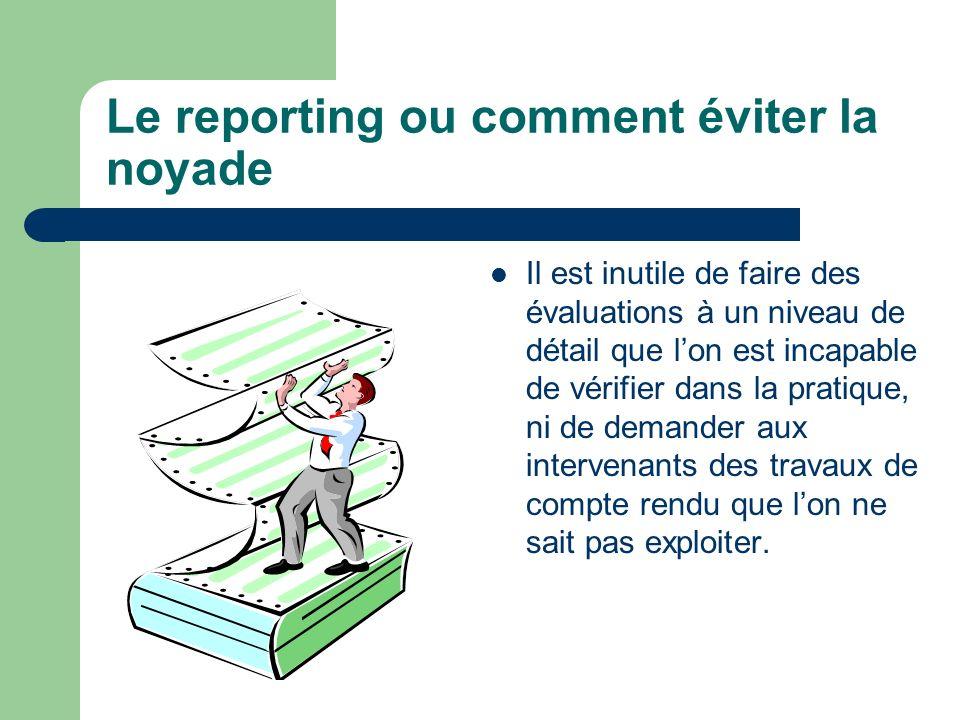 Le reporting ou comment éviter la noyade