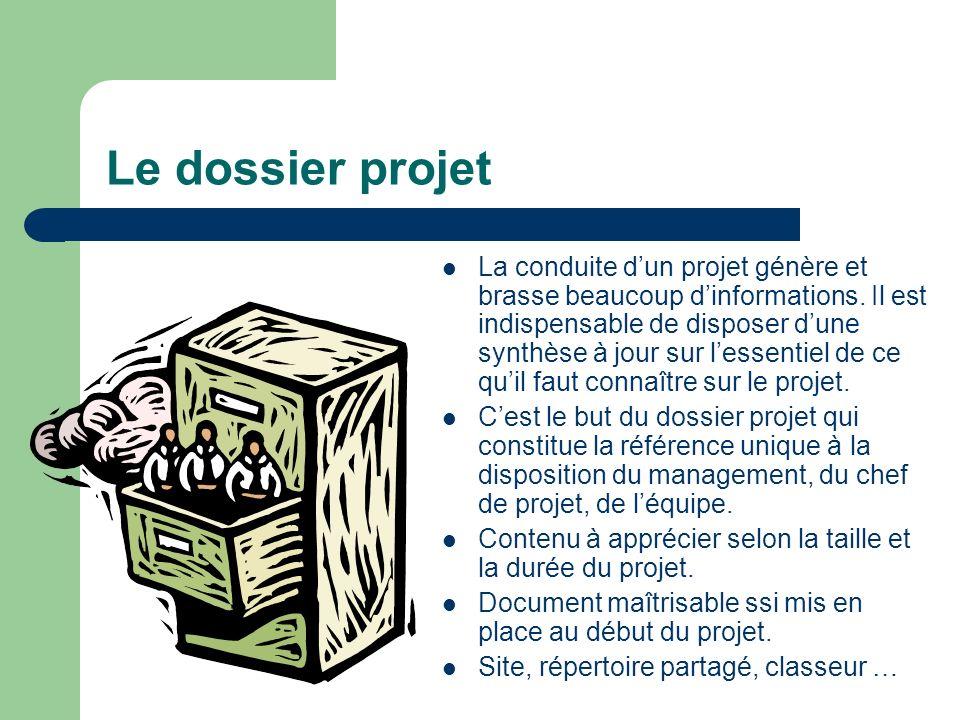 Le dossier projet