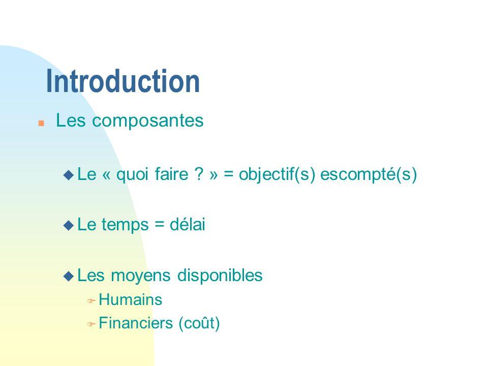 Introduction Les composantes