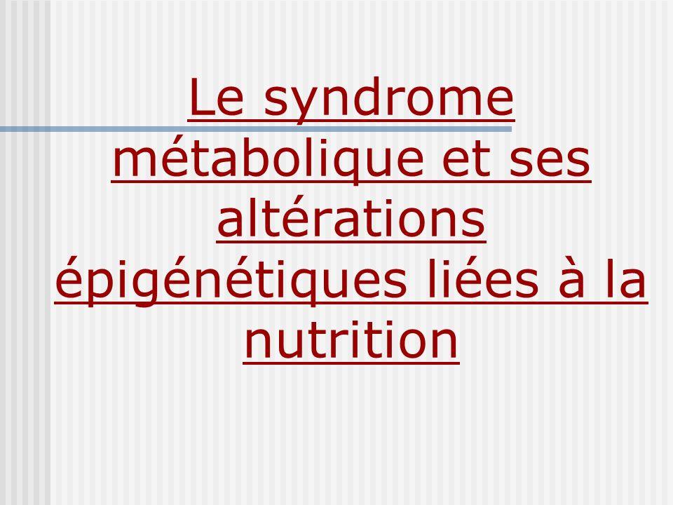 Le syndrome métabolique et ses altérations épigénétiques liées à la nutrition