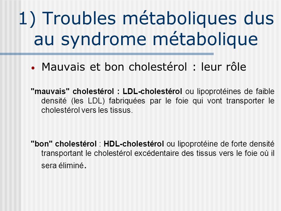 1) Troubles métaboliques dus au syndrome métabolique
