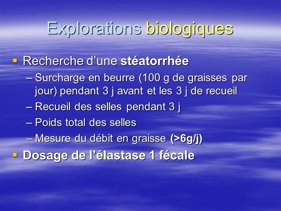 Explorations biologiques