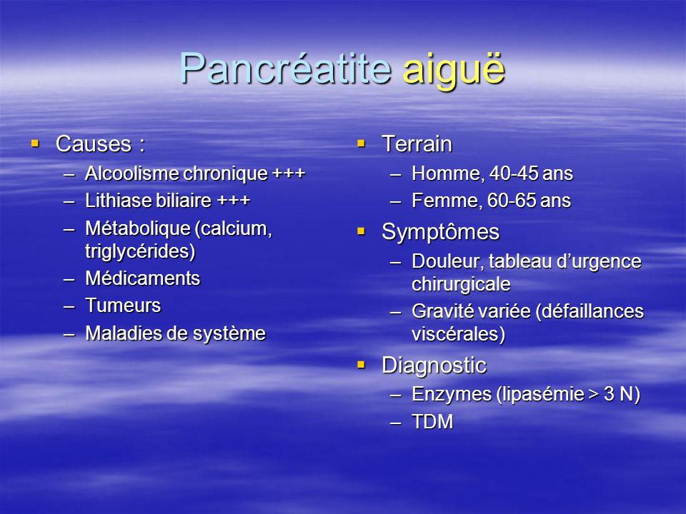 Pancréatite aiguë Causes : Terrain Symptômes Diagnostic