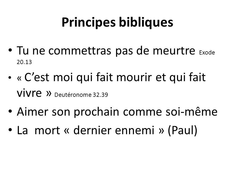 Principes bibliques Tu ne commettras pas de meurtre Exode 20.13