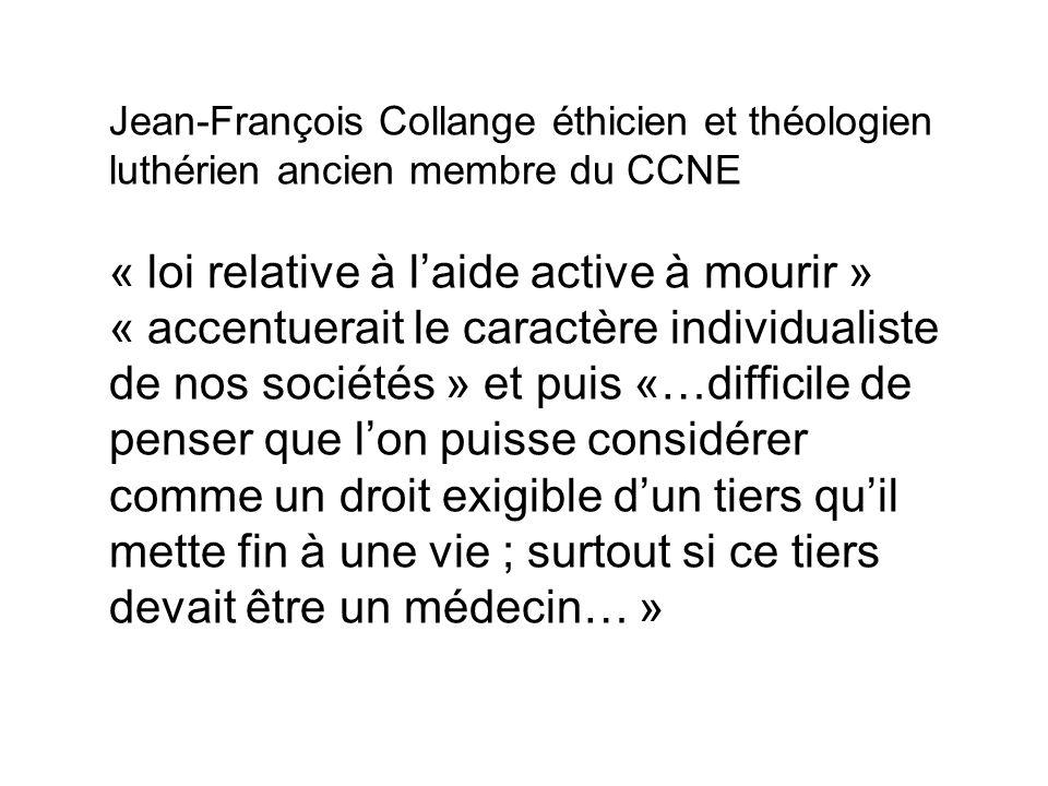 Jean-François Collange éthicien et théologien luthérien ancien membre du CCNE