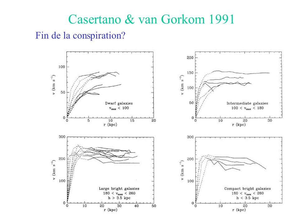 Casertano & van Gorkom 1991 Fin de la conspiration
