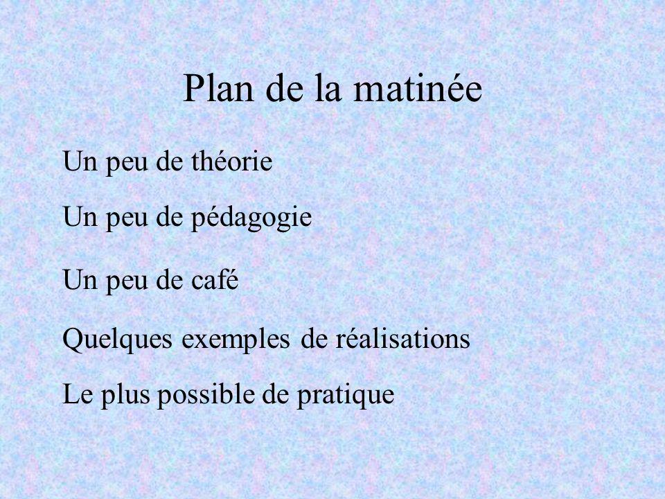Plan de la matinée Un peu de théorie Un peu de pédagogie