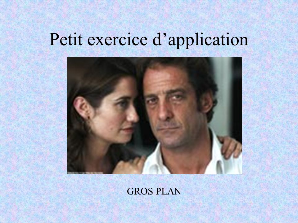 Petit exercice d'application