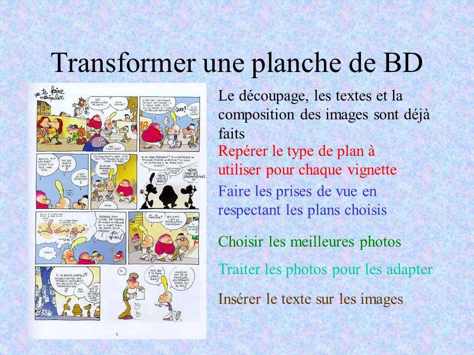 Transformer une planche de BD