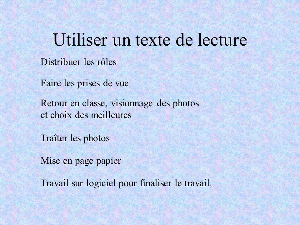 Utiliser un texte de lecture