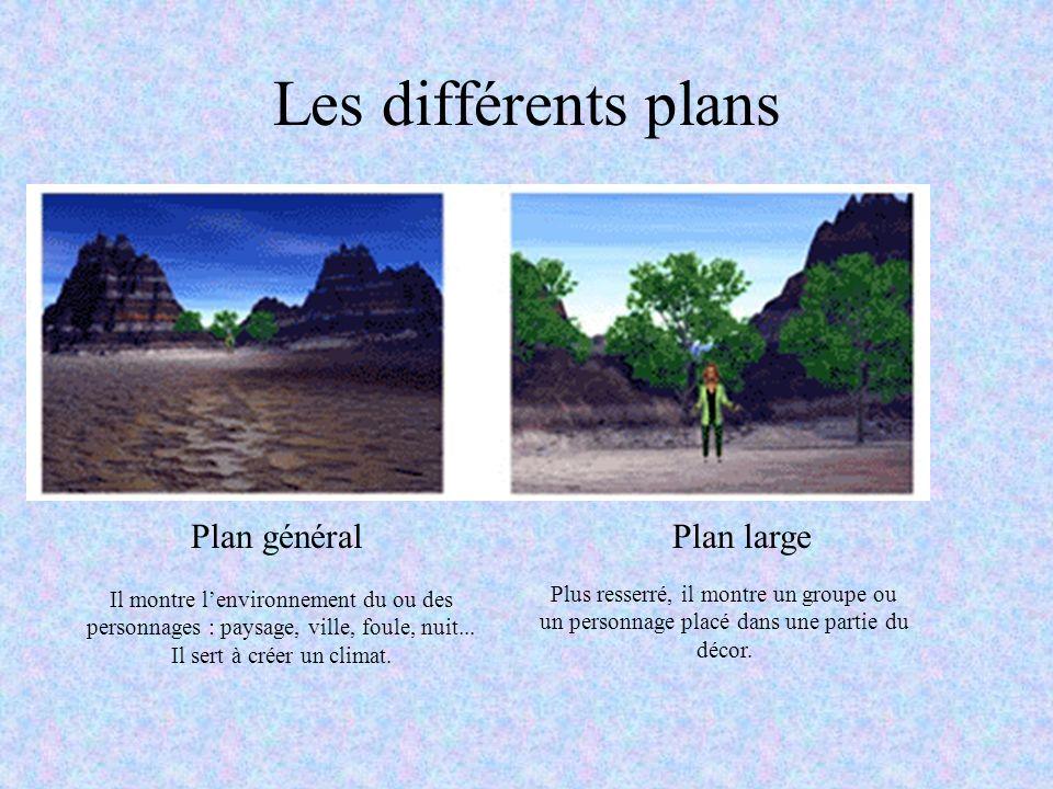 Les différents plans Plan général Plan large