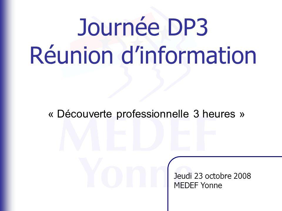 Journée DP3 Réunion d'information