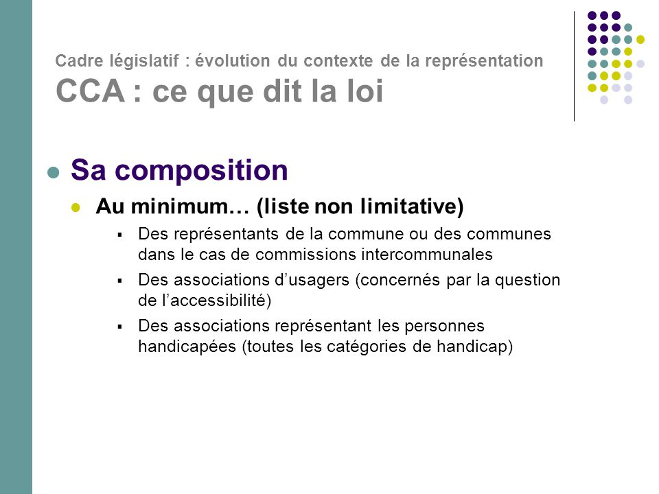 Sa composition Au minimum… (liste non limitative)