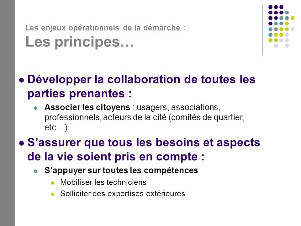 Développer la collaboration de toutes les parties prenantes :