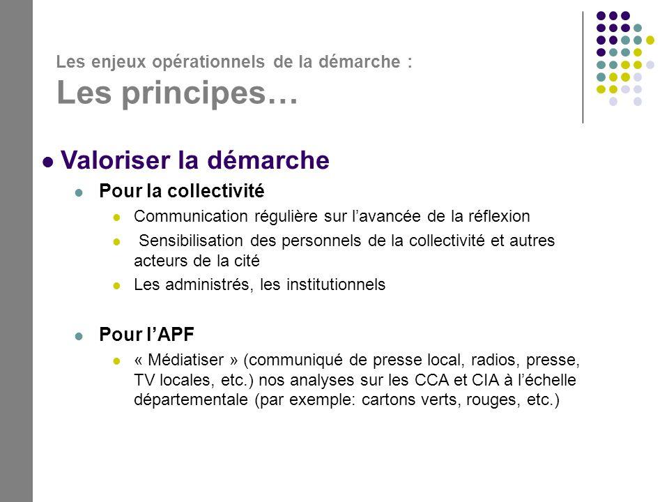 Valoriser la démarche Pour la collectivité Pour l'APF