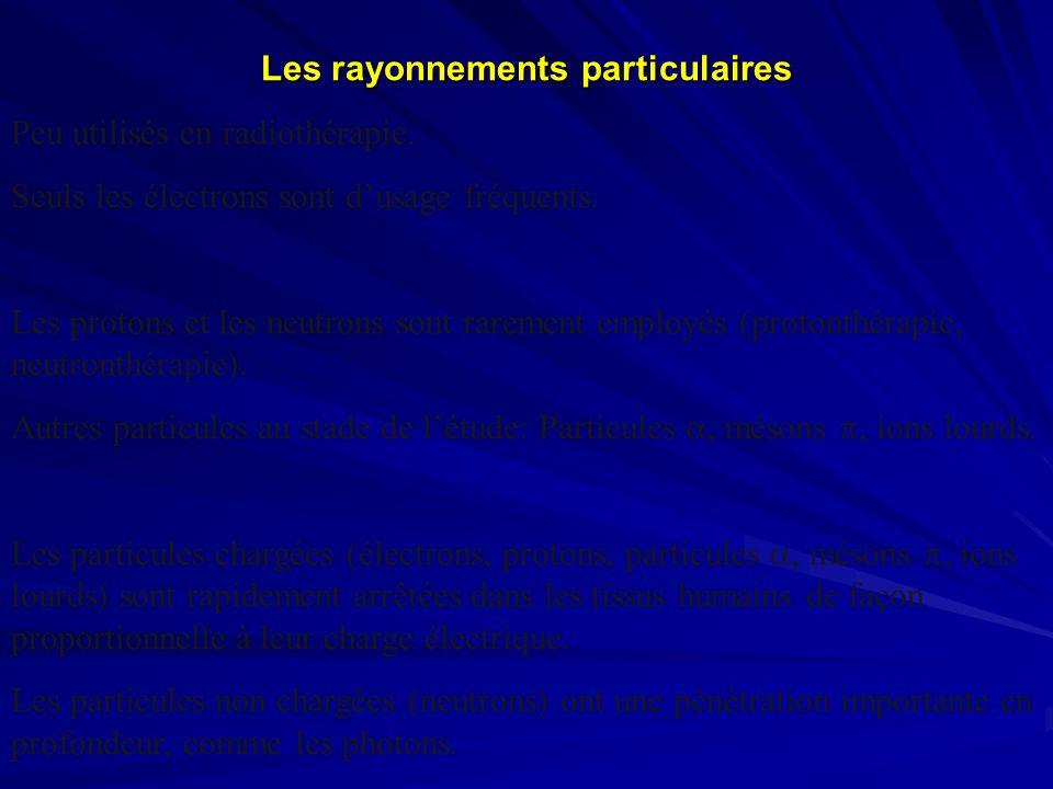 Les rayonnements particulaires