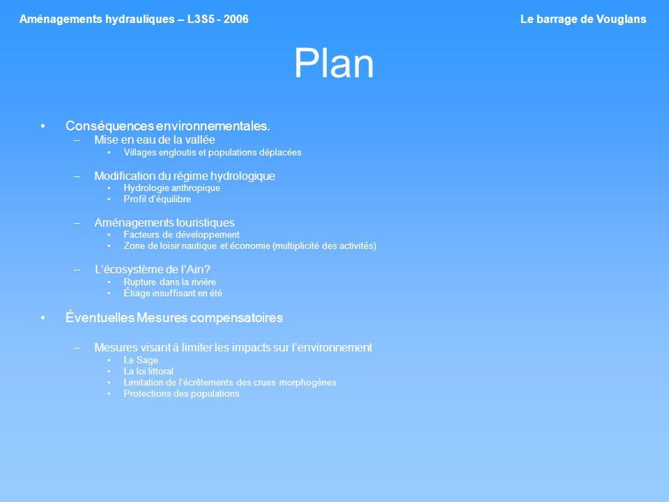 Plan Conséquences environnementales.