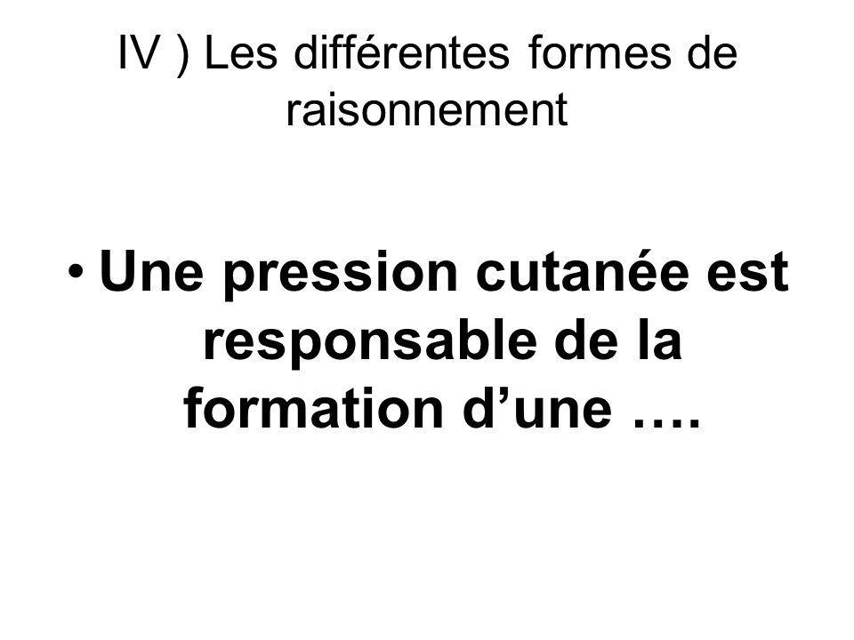 IV ) Les différentes formes de raisonnement