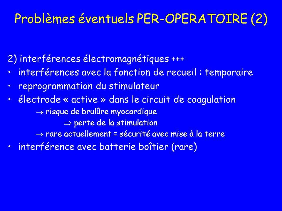 Problèmes éventuels PER-OPERATOIRE (2)