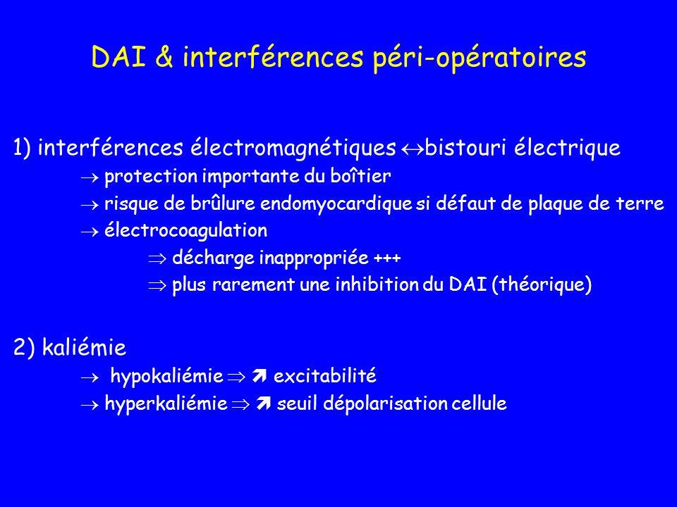 DAI & interférences péri-opératoires