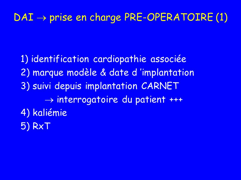 DAI  prise en charge PRE-OPERATOIRE (1)
