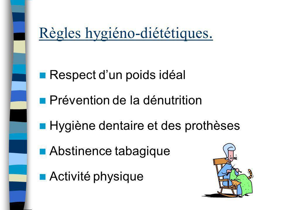 Règles hygiéno-diététiques.