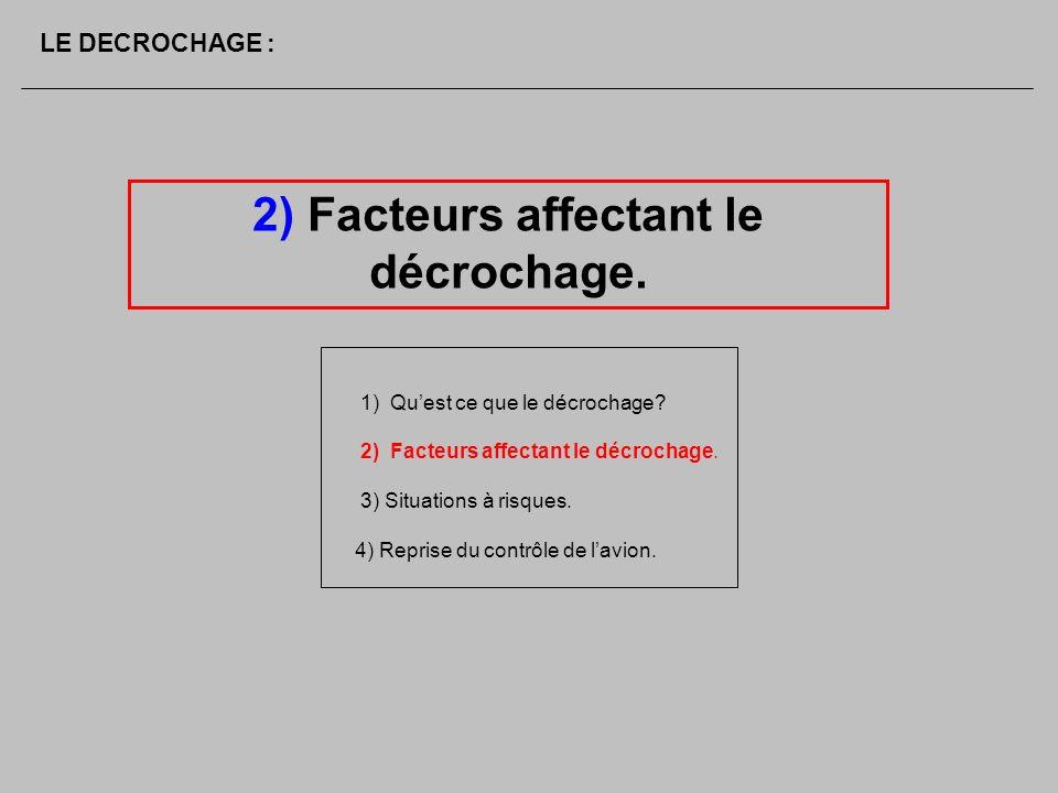 2) Facteurs affectant le décrochage.