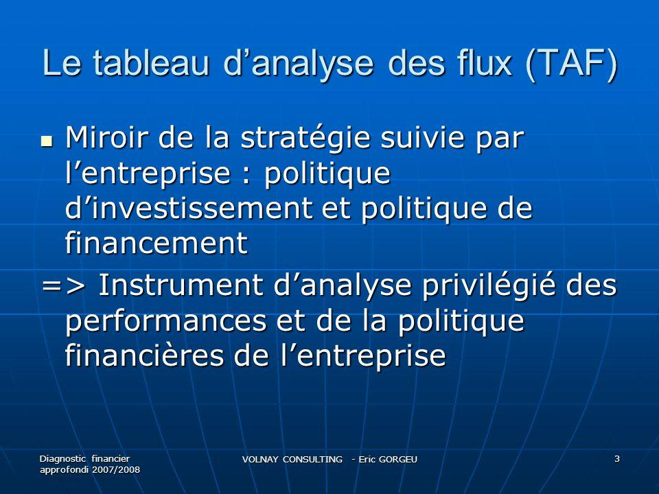 Le tableau d'analyse des flux (TAF)
