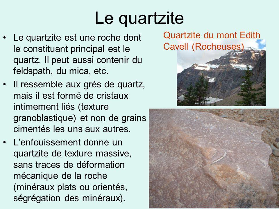 Le quartzite Quartzite du mont Edith Cavell (Rocheuses)