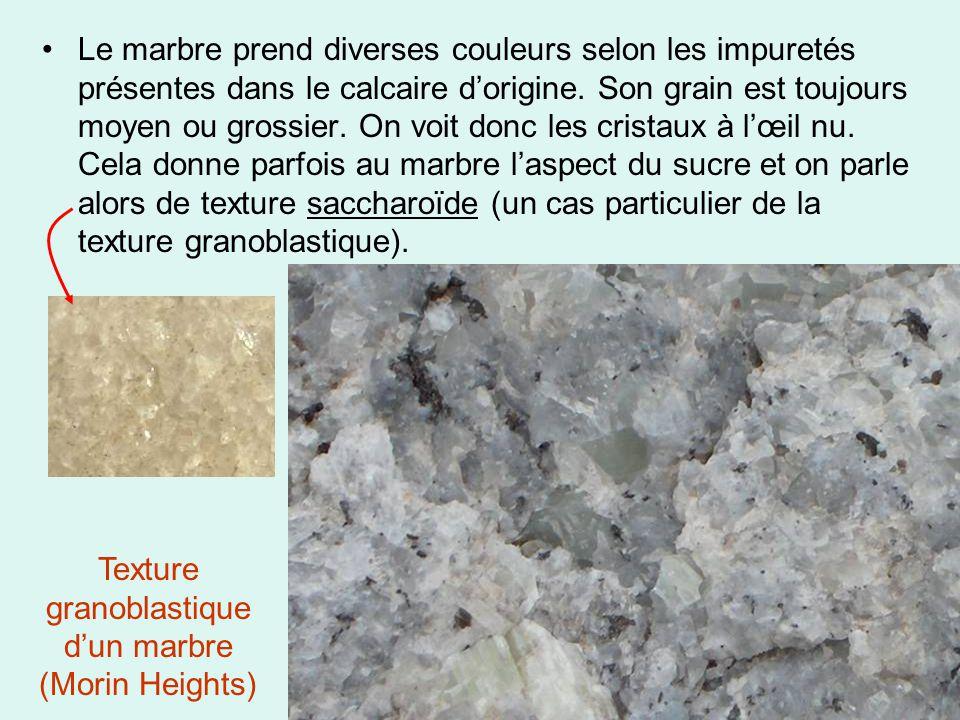 Texture granoblastique d'un marbre (Morin Heights)