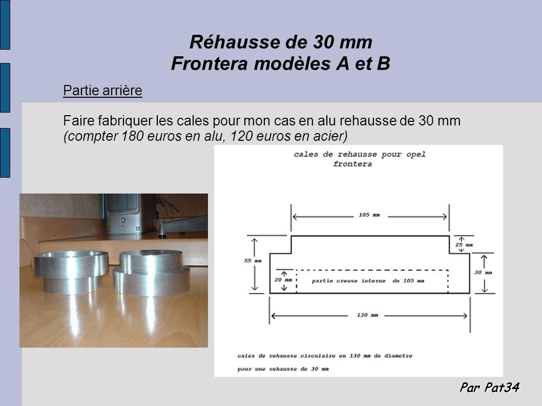 Réhausse de 30 mm Frontera modèles A et B