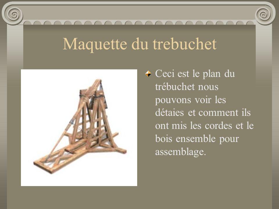 Maquette du trebuchet
